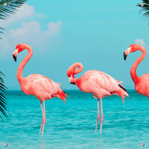 Pink Flamingos Outdoor Art Print