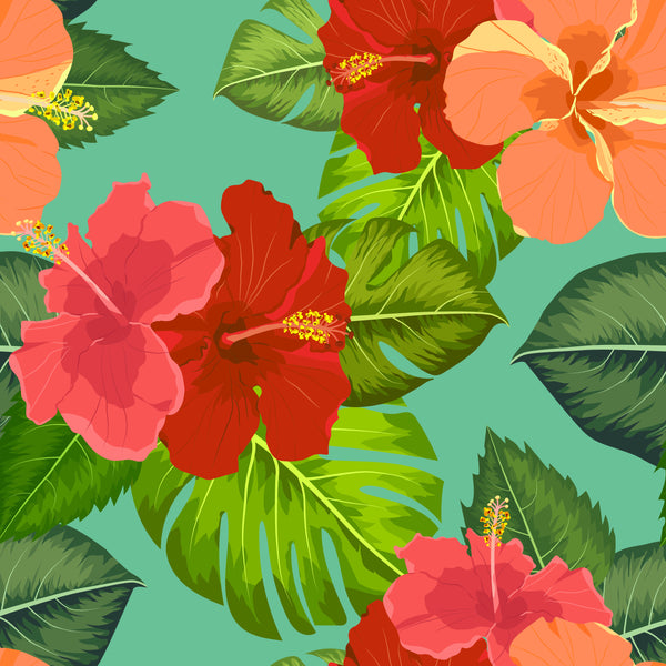 Tropical Flowers Coasters - Set of 4 Different
