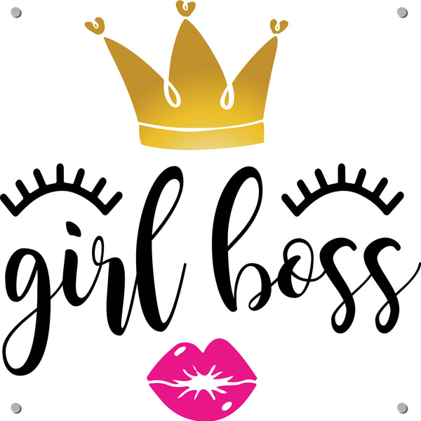 Girl Boss Outdoor Art Print