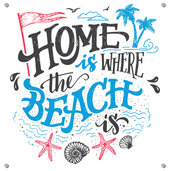 Home Beach Outdoor Art Print