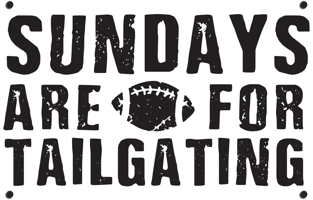 Sundays Are For Tailgating Outdoor Art Print