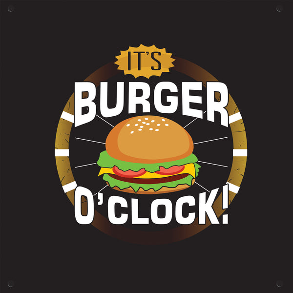 Burger O'Clock Outdoor Art Print