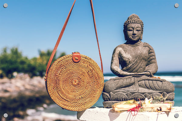 Buddha on the Beach Outdoor Art Print