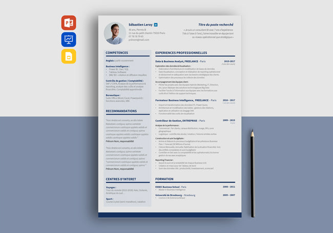 cv exemple simple
