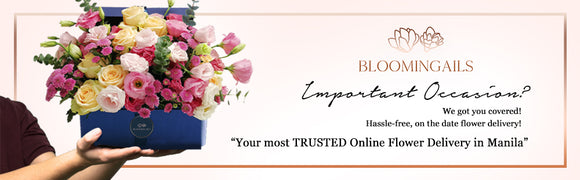 Flower shop in Manila. Bloomingails - the most trusted online flower delivery Manila.