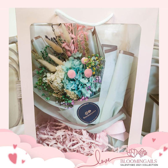 Cotton candy Dried Bouquet in Bag