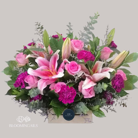 Pink Serendipity Floral Crate-Image-1