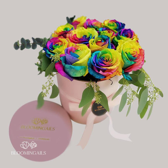 Rainbow Love Boxed Bouquet-Image-1