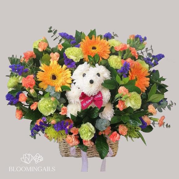 Sir Ivan Puppy Love Basket-Image-1