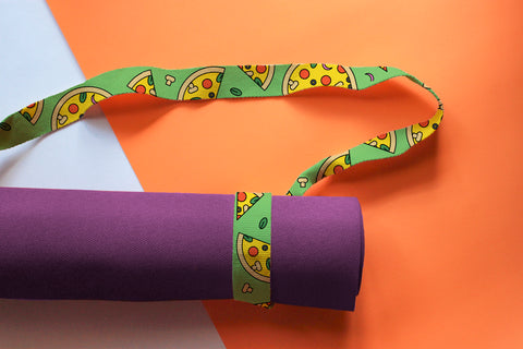 Limited Edition Pizza 🍕Mat & Stretching Strap
