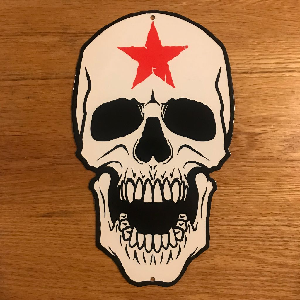 American Haunters Skull Metal Sign/Wall Art