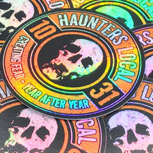 Load image into Gallery viewer, Haunters Local 1031 Holographic Logo Sticker