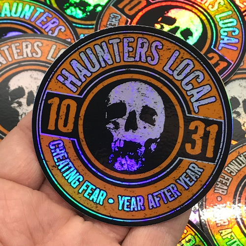 Haunters Local 1031 Holographic Logo Sticker