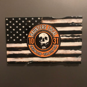 Haunters Local 1031 American Flag Magnet