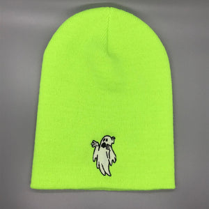 Lil' Ghostly Embroidered Beanie Cap