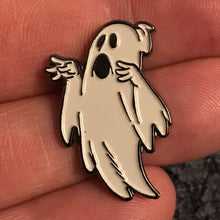 Load image into Gallery viewer, Lil' Ghostly Enamel Pin