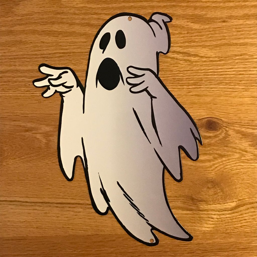 Lil' Ghostly Metal Sign / Wall Art