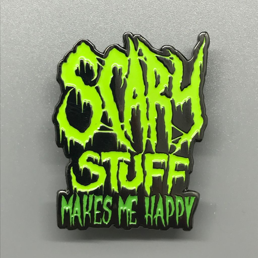 Scary Stuff Enamel Lapel Pin