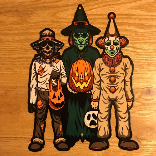 Trick or Treat Kids Metal Sign / Wall Art