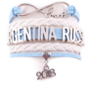 Russia 2018 World Cup Bracelet- Love Argentina