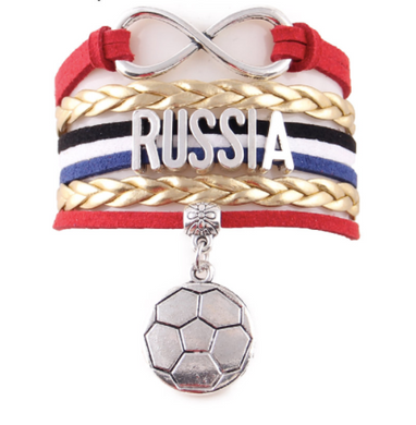 Gold 2018 World Cup Russia Bracelet