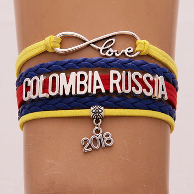 Russia 2018 World Cup Bracelet- Love Colombia