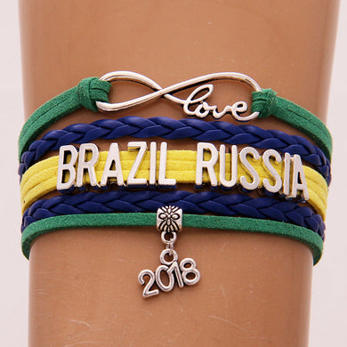 Russia 2018 World Cup Bracelet- Love Brazil