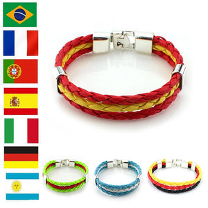 2018 Russia World Cup Flag Color Bracelet.