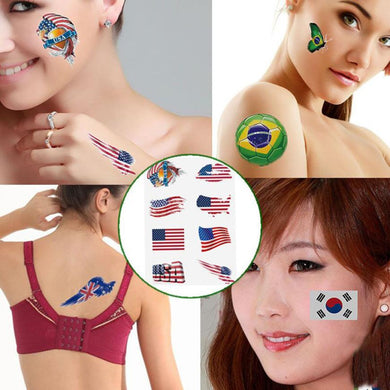 Russia 2018 World Cup National Flag Tattoo Sticker!