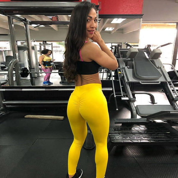 fb9899070f9e0 ... Women Leggings Polyester High Quality High Waist Push Up Elastic Casual Workout  Fitness Sexy Pants Bodybuilding ...