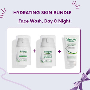 Hydrating/Sensitive Skin Bundle - Simple Age Resisting Facial Wash, Day Cream and Night Cream
