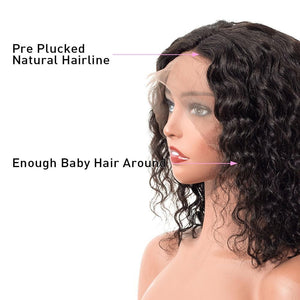 Natural Wavy 12 inch Lace Front Human Hair Wig