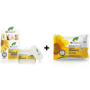 Dry Skin Type Bundle - Dr. Organic Vitamin E Face Cream & Soap