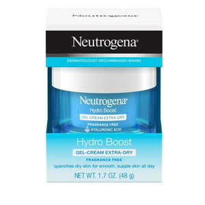 Neutrogena Hydro Boost Exfoliator Smoothing Gel, 150ml & Neutrogena Hydro Boost Gel-Cream with Hyaluronic Acid for Extra-Dry Skin