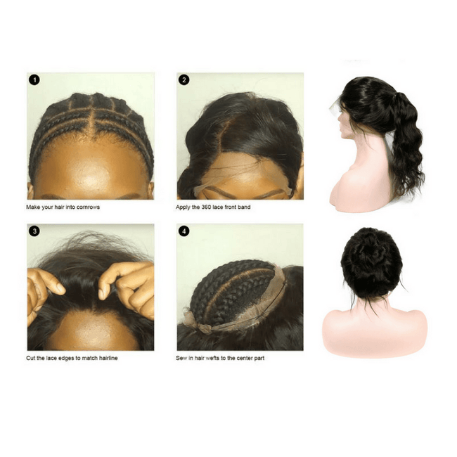 360 lace frontal weave