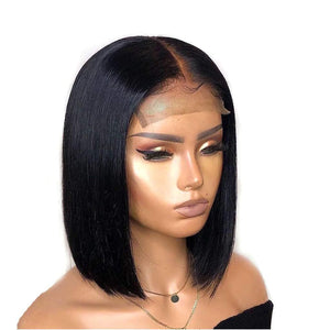 Skylar 8 inch Straight Lace Front Custom Human Hair Wig