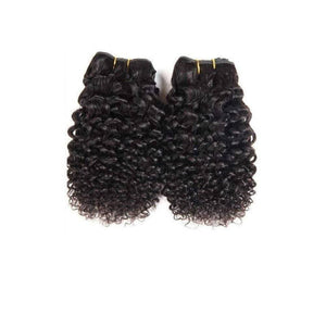 8 Inches Deep Curl Human Hair Weave Bundle Color 1B