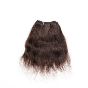8 Inches Straight Human Hair Weave Bundle Color 2