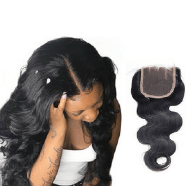 Body Wavy Human Hair Closure