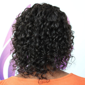 Jessy 8 inch Deep Curl Lace Front Custom Human Hair Wig
