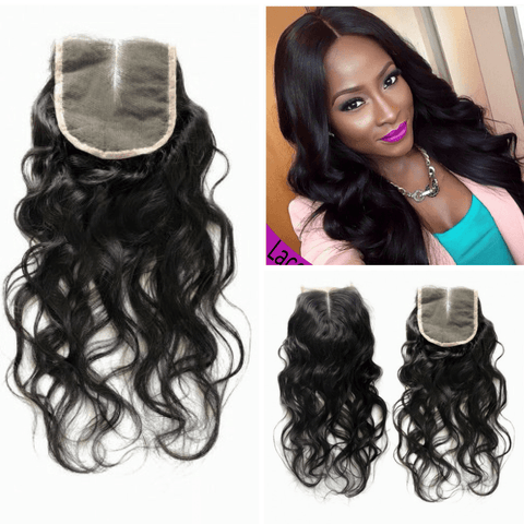 Natural Wavy Human Hair Closure