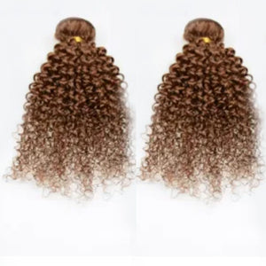 12 Inches Deep Curl Human Hair Weave Bundle Color 2