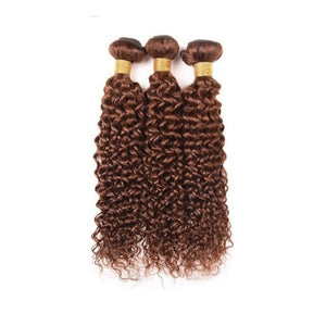 14 Inches Deep Curl Human Hair Weave Bundle Color 2