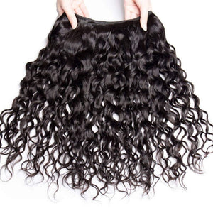 14 Inches Natural Wavy Human Hair Weave Bundle color 1B