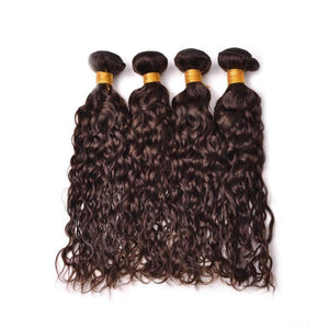 20 Inches Natural Wavy Human Hair Weave Bundle color 2