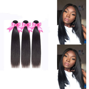 14 Inches Straight Human Hair Weave Bundle Color 1B