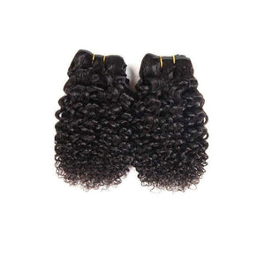 10 Inches Deep Curl Human Hair Weave Bundle Color 1B