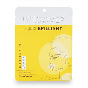 Uncover Vitamin C Brightening Sheet Mask - I am Brilliant (3 Pack Bundle)