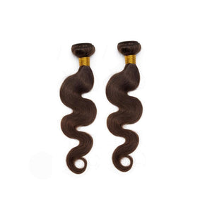 14 Inches Body Wavy Human Hair Weave Bundle Color 2 (Dark Brown)