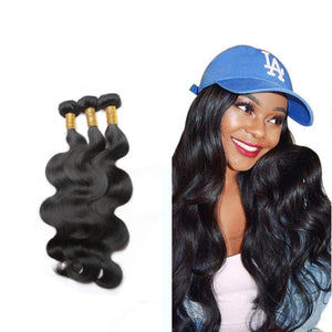 18 Inches Body Wavy Human Hair Weave Bundle Color 1B